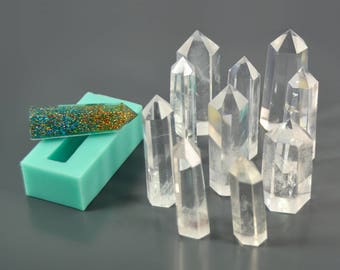 Silicone mold - Crystal (10 sizes) - Glossy - Mould for pendant, interior, candle, soap - Form for epoxy resin, polymer clay