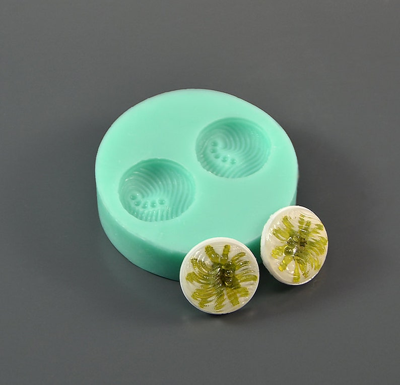 round relief lens - For making earrings Silicone mold 17 \u0445 4 mm For epoxy resin and polymer clay 2 pcs pendants 0.67 x 0.16