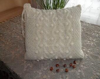 Cable Knit Pillow Cover Pillow Decorative Knit Pillow Handmade Home Decor 40 cm x 40 cm