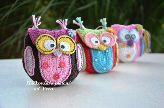 Pattern Owl Purse Crochet Pattern Handbag Pdf Etsy