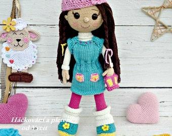 PATTERN - Doll Sandy - crochet pattern, amigurumi pattern, PDF
