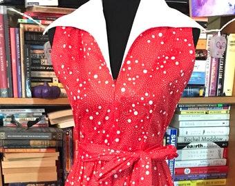 1960/'s-70/'s Purple Rainbow Stripe Long Sleeve High Neck Midi Dress Lillian Russell Vintage Small Medium S M