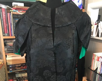 Lilli Diamond of California Cocoon Evening Coat with Tulip Sleeves