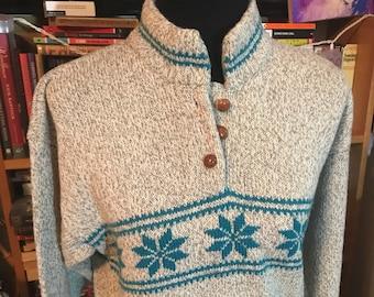 Vintage Sierra Woolens Womens Snowflake Ski Sweater