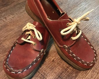 26ab367207ed11 Women s Size 8 Gum Sole Dexter Boat Shoes