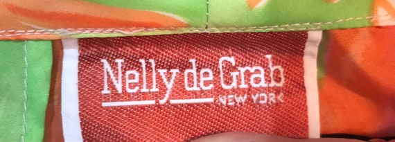 70's Neon Floral Nelly de Grab New York Button Fr… - image 6