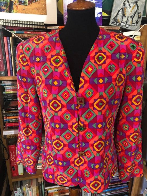 80's Albert Nipon Silk Skirt Suit