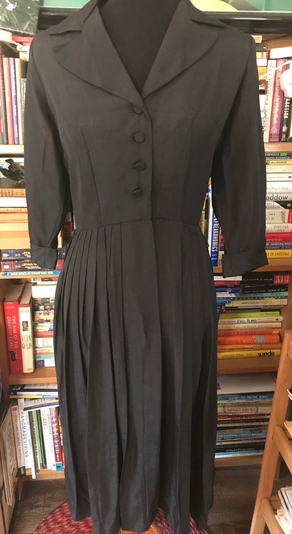 1950's Kerrybrooke Grosgrain Shirtwaist Day Dress