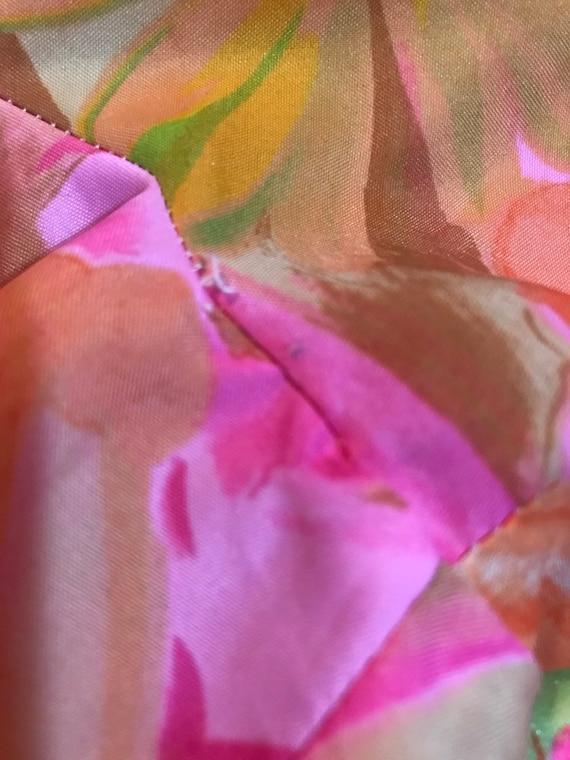 70's Neon Floral Nelly de Grab New York Button Fr… - image 8