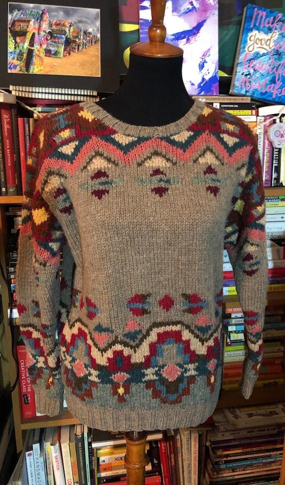 90's Women's Ralph Lauren Country Graphic Sweater