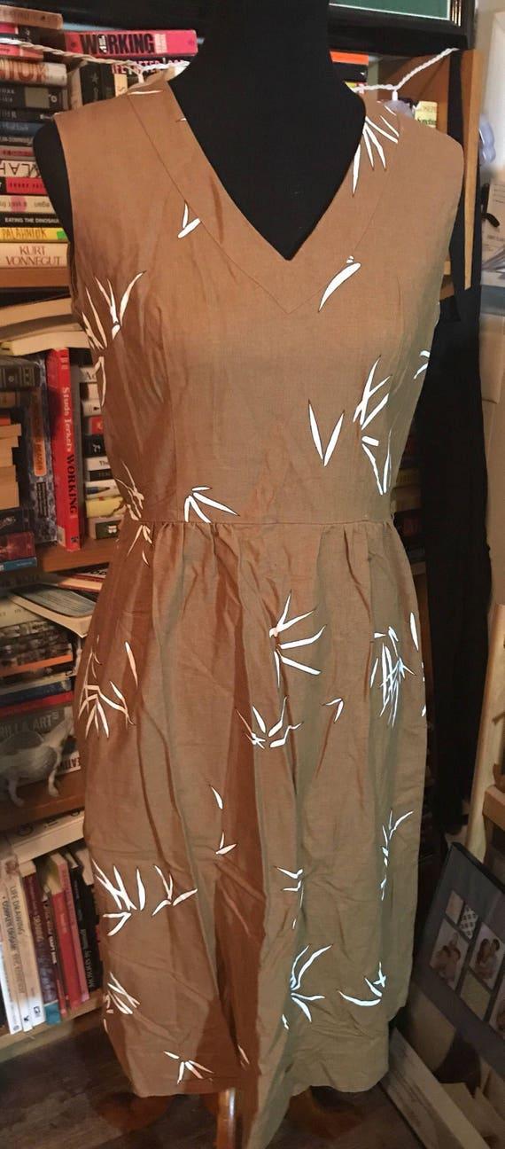 1960's Malia of Honolulu V-Neck Dress