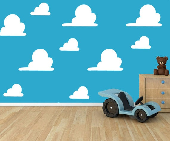 Toy Story Cloud Andys Room Stencil Etsy
