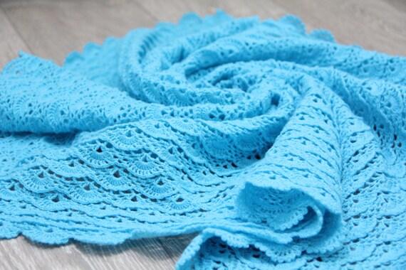 Türkis Häkeln Baby Decke Für Jungen Und Mädchen Muschel Etsy