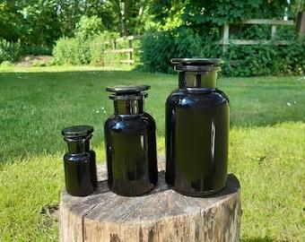 Apothecary Jar -  Miron Glass (Dark Violet) - 500ml/250ml/50ml