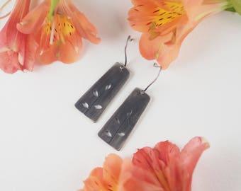Earrings, Sterling Silver Earrings, Flower Earrings