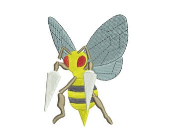 Beedrill - Pokemon GO: Machine embroidery design