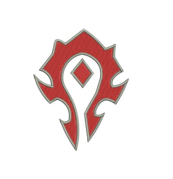 Horde Symbol Of World Of Warcraft Machine Embroidery Design Etsy