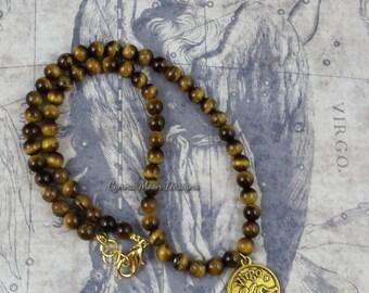 Zodiac Jewelry - Virgo the Virgin - Tiger Eye