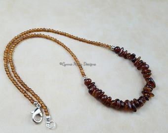 Hessonite Garnet Necklace