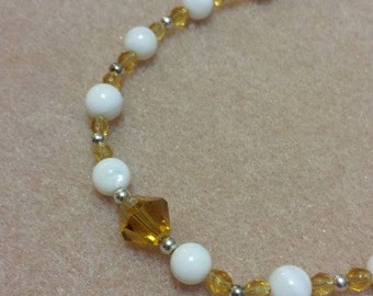 Girls Birthstone Crystal Necklace - NOVEMBER