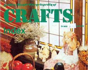 70s Golden Hands Crafts Weekly Index Covering Various Crafting Projects
