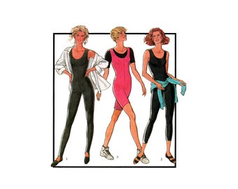 Style 1925 Dance or Exercise Bodysuits in Three Lengths, Uncut, Factory Folded Sewing Pattern Multi Size 6-18