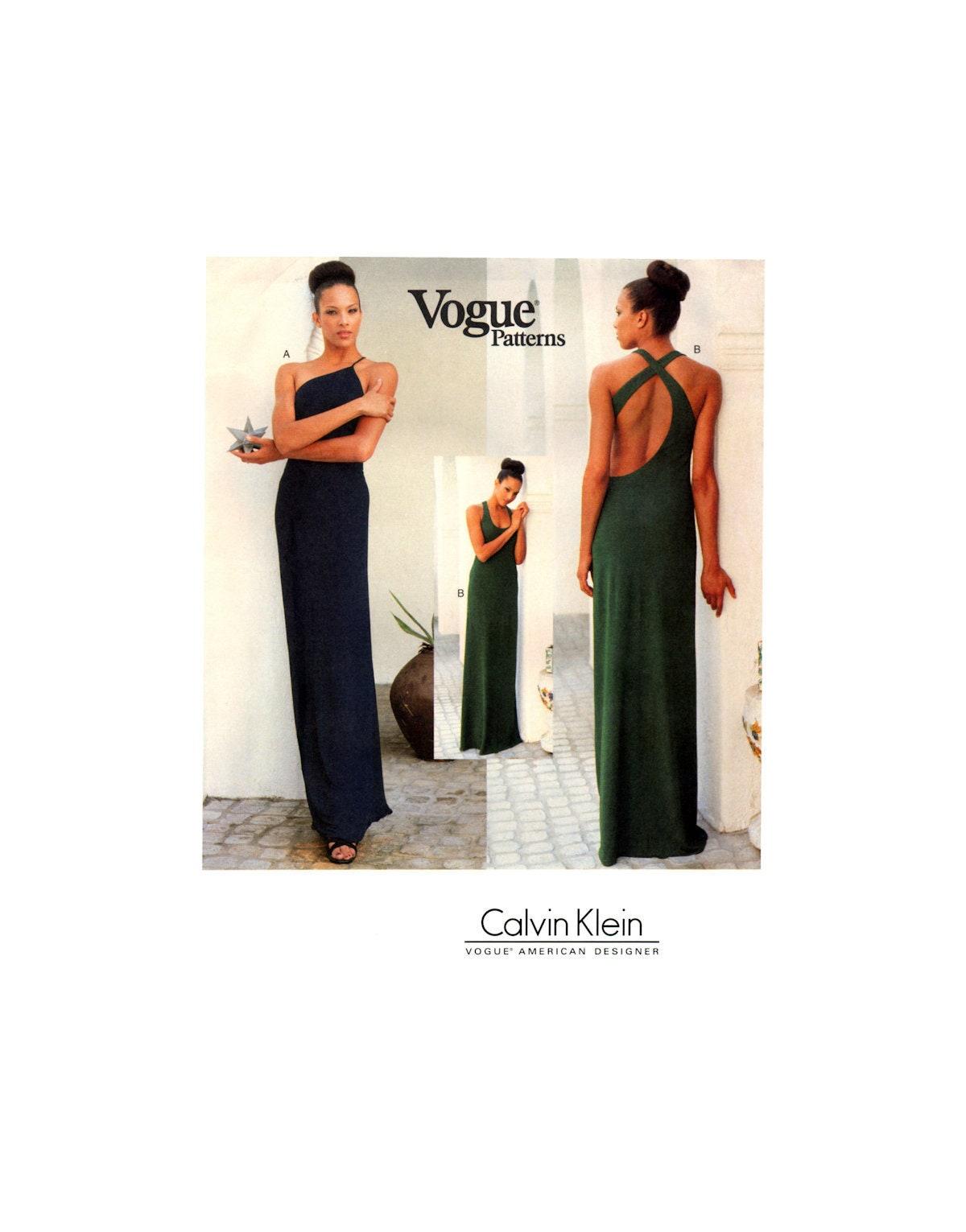 01 Vogue American Designer 1940 Calvin Klein Evening Dress | Etsy