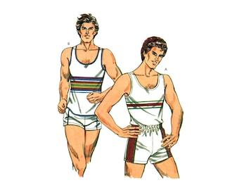 Kwik Sew 1240 Scoop Neckline Tank Top and Shorts, Uncut, Factory Folded, Sewing Pattern Multi Size 42-48