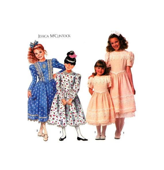90s Simplicity 9933 Jessica Mcclintock Flower Girl Etsy