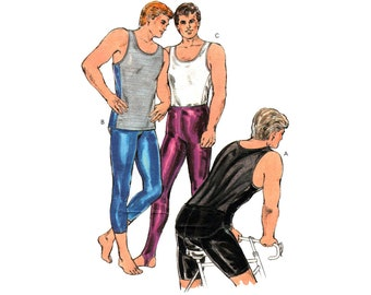 Kwik Sew 1727 Men's Cycling Wear: Tights, Shorts and Tank Top, Uncut, Factory Folded, Sewing Pattern Multi Size 34-48
