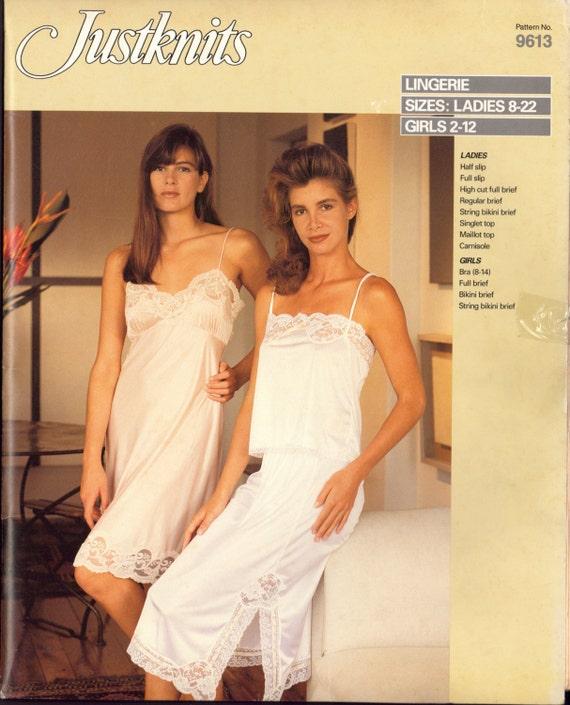 80er Jahre Justknits 9613 Dessous: voller & halbe Slip Slips   Etsy