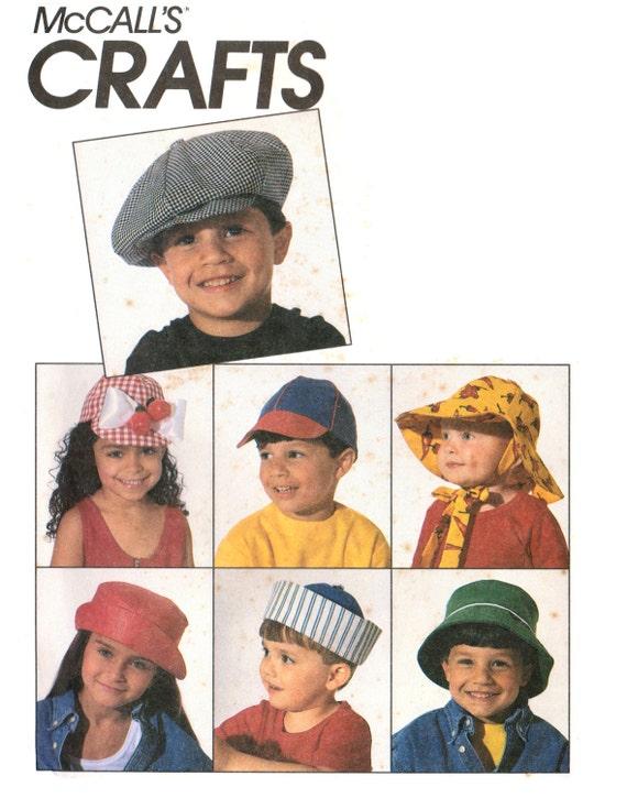 90s McCall\'s 6210 Hats for Kids: Beret Baseball Cap | Etsy