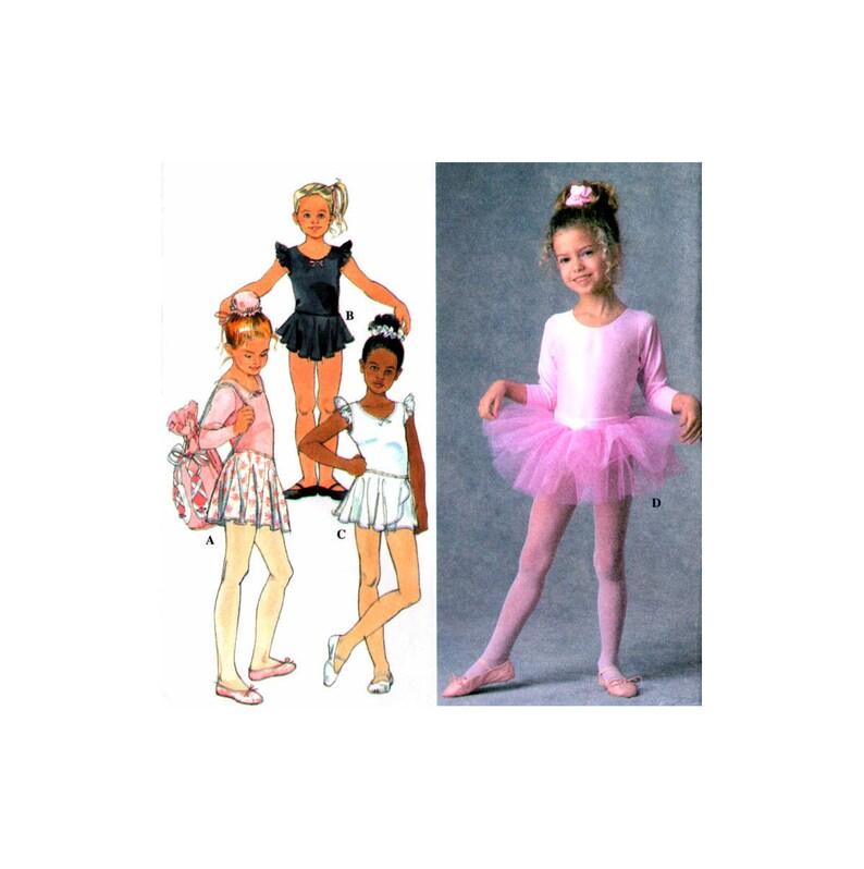 SIMPLICITY 7351 BALLET DANCE COSTUME LEOTARD SKIRT TUTU BAG PATTERN  SIZE 3 TO 8
