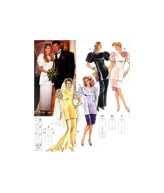 80er Jahre Burda 5082 Braut Abend formale zwei Stück Kleid | Etsy