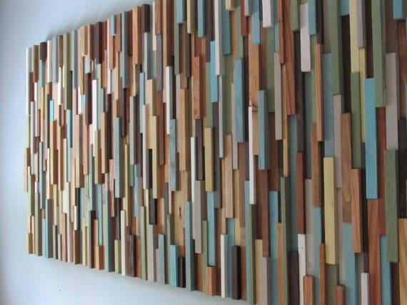 Wood Wall Art Modern Wood Wall Art Reclaimed Wood Wall Art Art Sculpture Wood Wall Art Large Wood Wall Art Decor