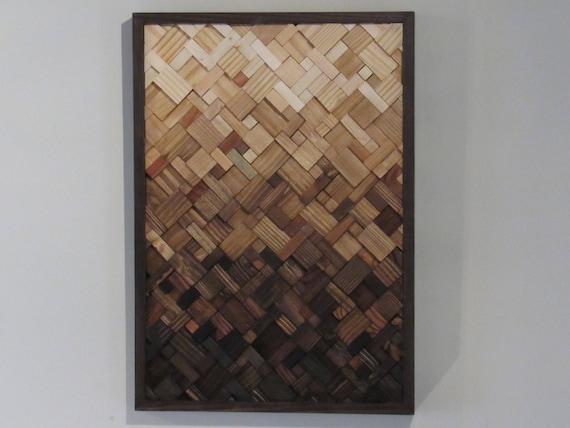 Wood Wall Art Wood Wall Decor Geometric Wood Art Modern Etsy
