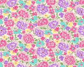 Feedsack Pink Purple Multicolored Wildflowers 1930 s Reproduction Fabric Nana Mae 4 of Henry Glass 9296-25