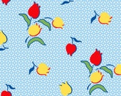 SugarSack 2 by Whistler Studios Quilt Fabric Vintage Cornflower Tulips From Windham