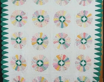 Jade Dresden Plate Pre Cut Quilt Kit 1930s Reproduction Ready to Sew!!
