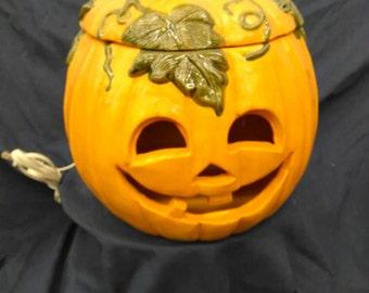 Happy pumpkin light/cookie jar