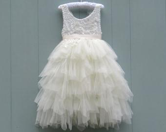 Flower girl dress etsy more colors long ivory flower girl dress white mightylinksfo