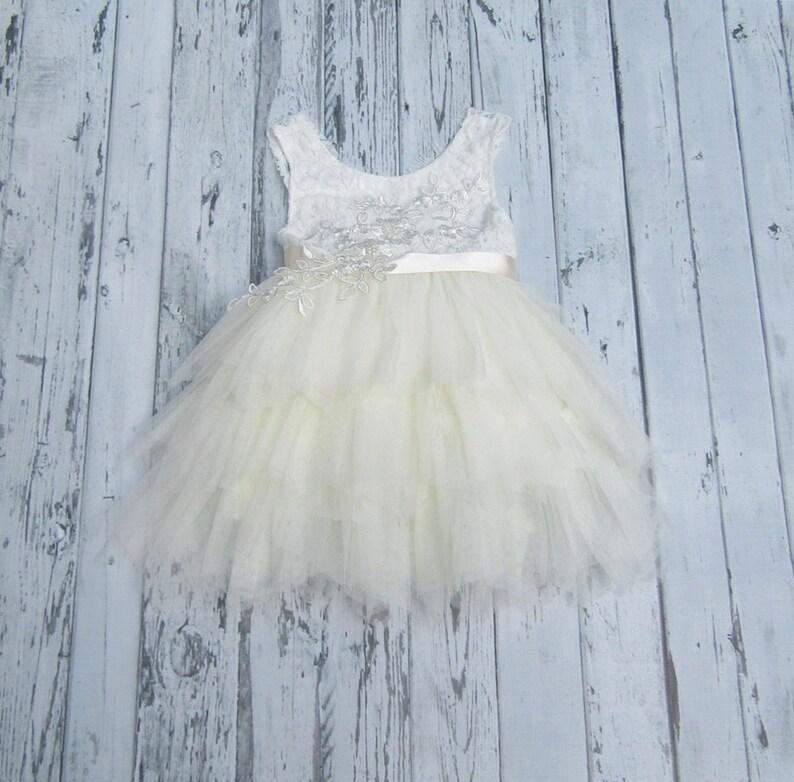 2e924d6f279 Ivory Flower Girl Dress Lace Baby girl flower girl dress
