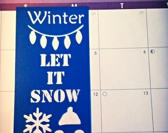 Winter Bookmark Planner/Journal Stencil