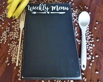 Menu Chalkboard - Weekly Menu Board - Kitchen Decor - Menu - Chalkboard Menu - Chalkboard - Vinyl Menu - Weekly Menu - Kitchen Decoration