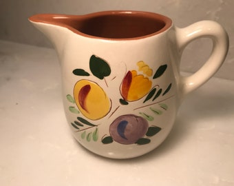 Stangl Creamer, Fruit and Flowers, Pottery Creamer, 60's Pottery