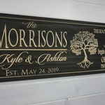Last Name Sign Personalized | Name Sign | Custom Wood Sign | Established Sign | Personalized Wedding gift | Wedding Sign | Family Name Sign