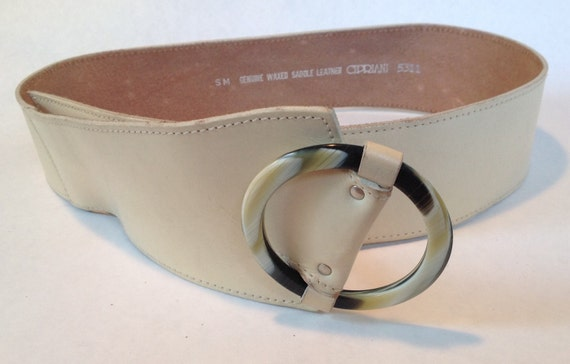 Vintage CIPRIANI Wide Women's  Cinch Belt, 1980s