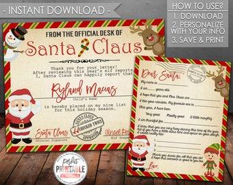 Letter santa kit etsy santa letter kit christmas letter to santa christmas wish list santa claus certificate digital file instant download printable 724 spiritdancerdesigns Gallery