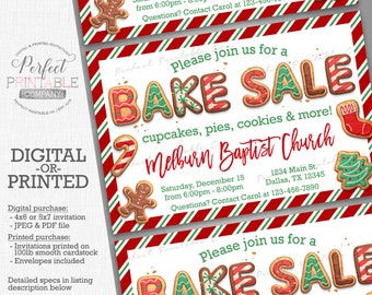 bake sale flyer etsy