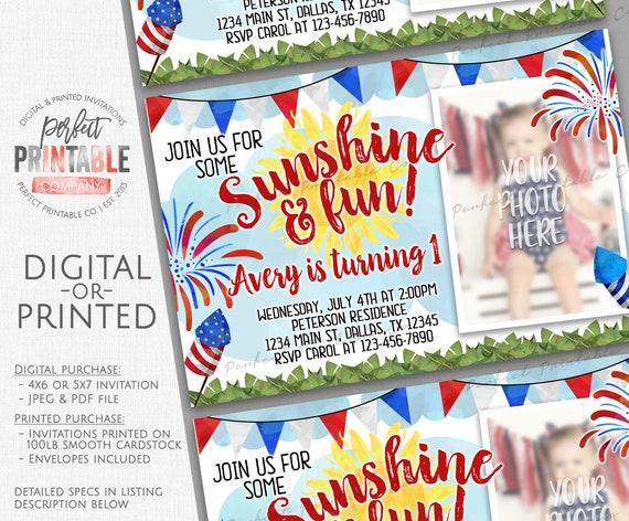 4th Of July Birthday Invitation